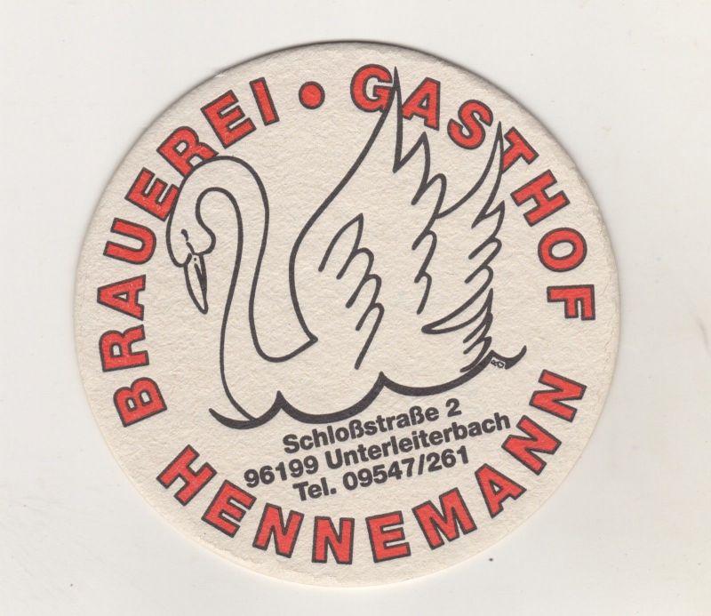 Alter Bierdeckel Brauerei Gasthof Heinemann Unterleiterbach Oberfranken