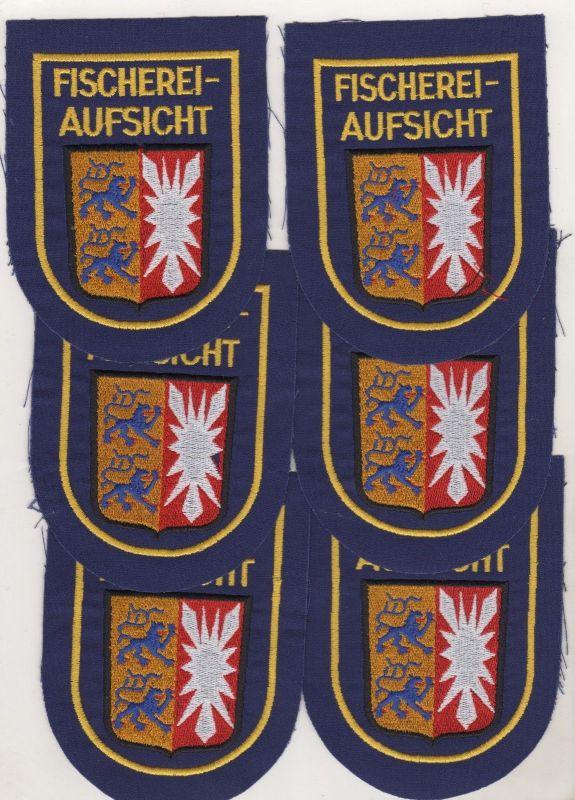 6 x Behörden Uniform Aufnäher Patch Fischereiaufsicht Schleswig Holstein