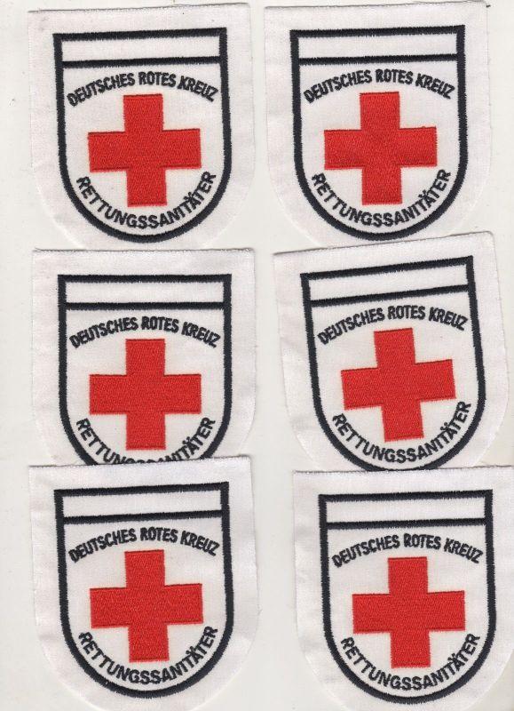 6 x Aufnäher Patch Deutsches Rotes Kreuz Rettungssanitäter