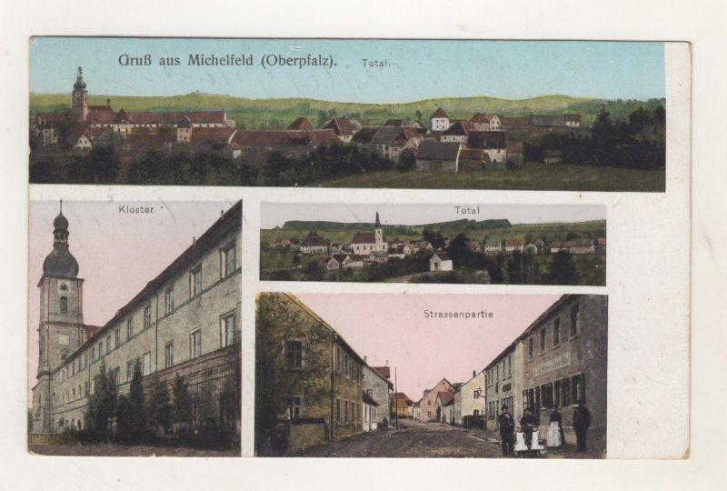 AK Oberpfalz Michelfeld Ortsteil  Auerbach - Kloster - Strassenpartie - Feldpost