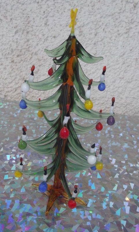 Weihnachtsbaum aus Glas wohl Lauscha Thüringen 15,5 cm