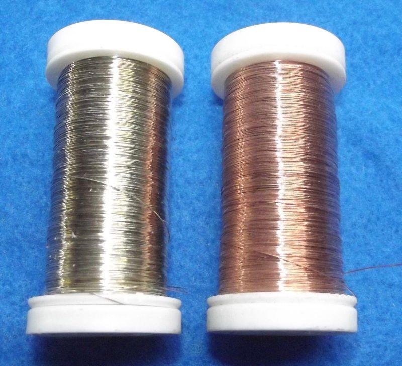 2 x Leonisches Gespinst Kupferdraht Kupfer Draht für Trachten