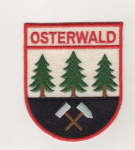 Stoff Aufnäher Patch Wappen Gemeinde Osterwald