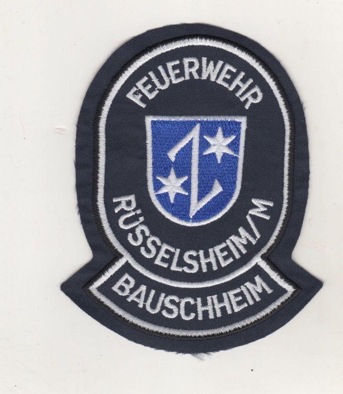Uniform Aufnäher Patches Feuerwehr Rüsselsheim / M Bauschheim