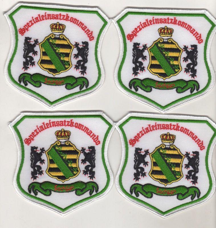 4 x Patch Aufnäher Spezialeinsatzkommando Sachsen SEK