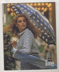 Alter Reklame Papp Aufsteller Knirps Long Regenschirme Mode 70er Jahre