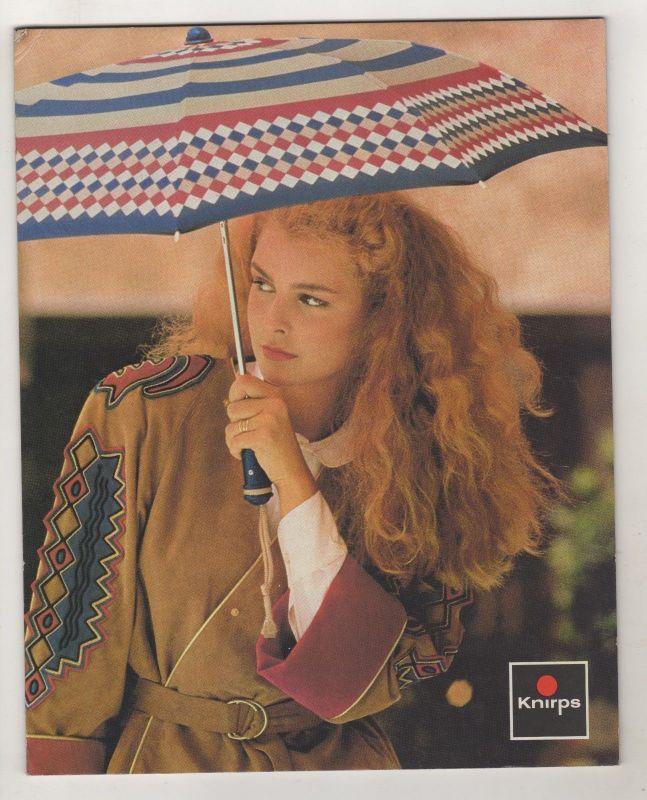 Alter Reklame Papp Aufsteller Knirps Regenschirme Mode 70er Jahre