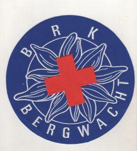 Grosser Aufnäher BRK Bergwacht Rotes Kreuz Durchmesser 20 cm