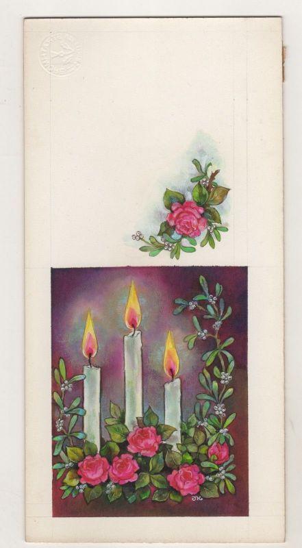 Goebel Zeichnung Aquarell Arbeitsmuster Artist Janet Kennedy 1951 Elmsford USA