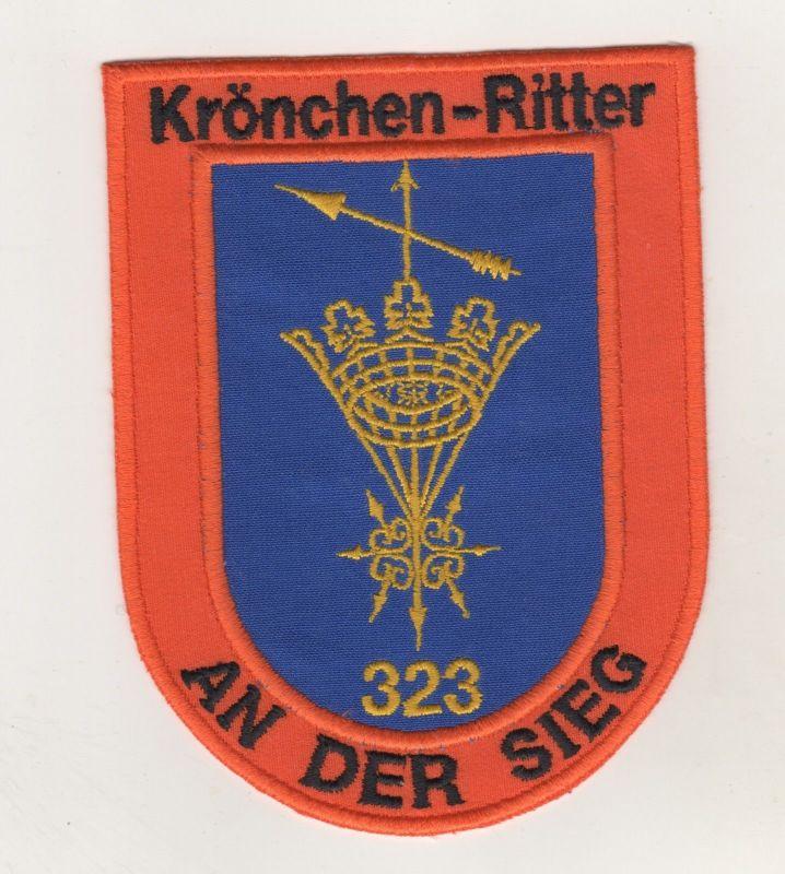 Aufnäher Patches Karneval Krönchen Ritter An der Sieg 323