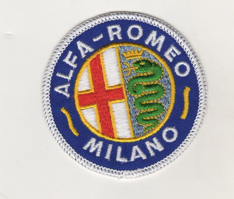 Original Aufnäher Patches Alfa Romeo Milano