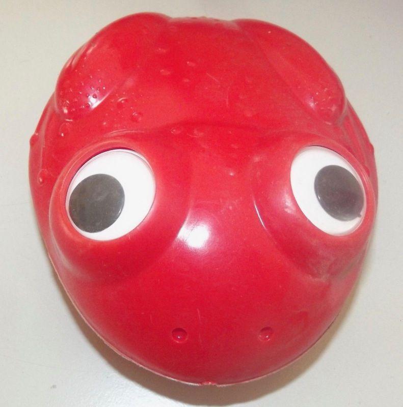 DDR Kult Spielzeug Frosch mit Kulleraugen Plaste
