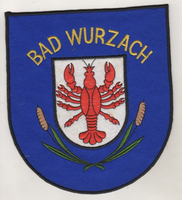 Grosser Aufnäher Patch Bad Wurzach Baden-Württemberg 20 cm x 17,5 cm
