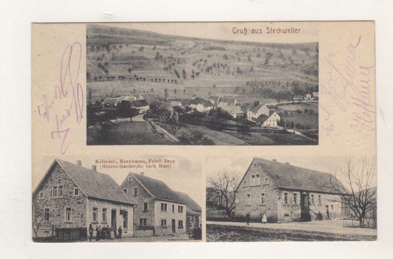 Ak Bayerfeld Steckweiler Rheinland Pfalz Handlung Kolonial Waren Zapp Feldpost