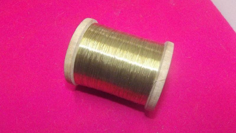 Gold Leonischer Draht Gespinst Trachten Näherei 504 Gramm auf Holzrolle