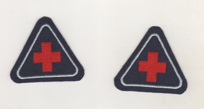 Uniform Aufnäher Patches 2 x Kragenspiegel Rotes Kreuz