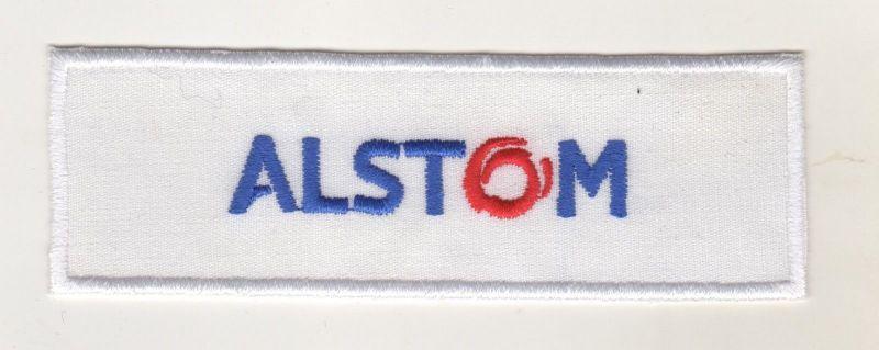 Firmen Aufnäher Patch Alstom Bahntechnik Eisenbahn Bau