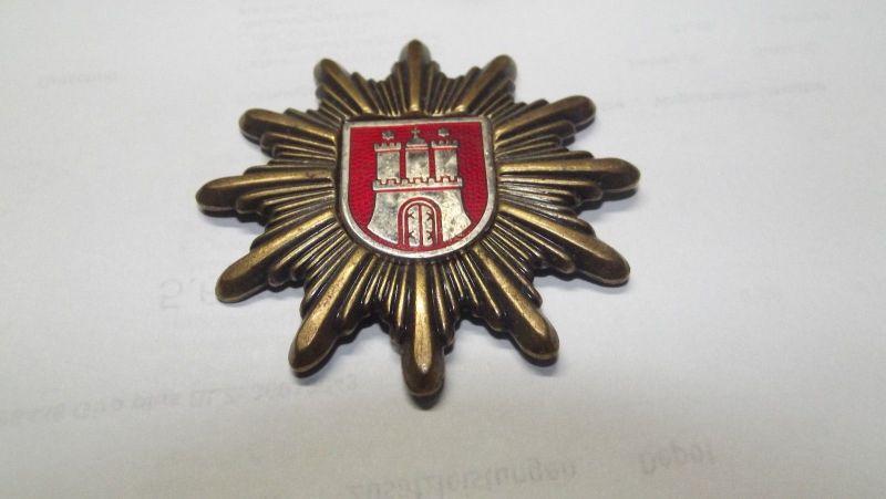 Metall Mützenabzeichen Hamburg Abzeichen Wappen wohl Polizei