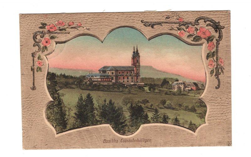 AK Oberfranken Basilika Vierzehnheiligen Kreis Lichtenfels Jugendstil Lito 1905