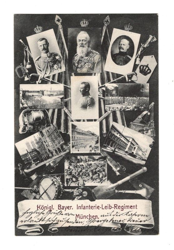 AK Bayern Königl. Bayer Infanterie Leib Regiment München 1907 Militärpostkarte