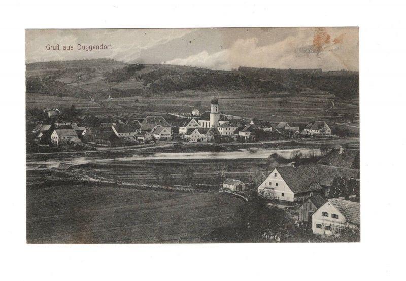 AK Oberpfalz Gruß aus Duggendorf Landkreis Regensburg 1907