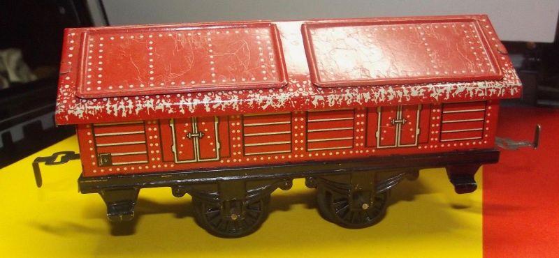X - Blech Eisenbahn Waggon Made in Germany Spur 0