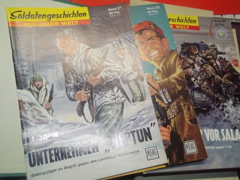 X- Soldatengeschichten aus aller Welt Sammler Ordner Nr. 31 - 45 unbelesen