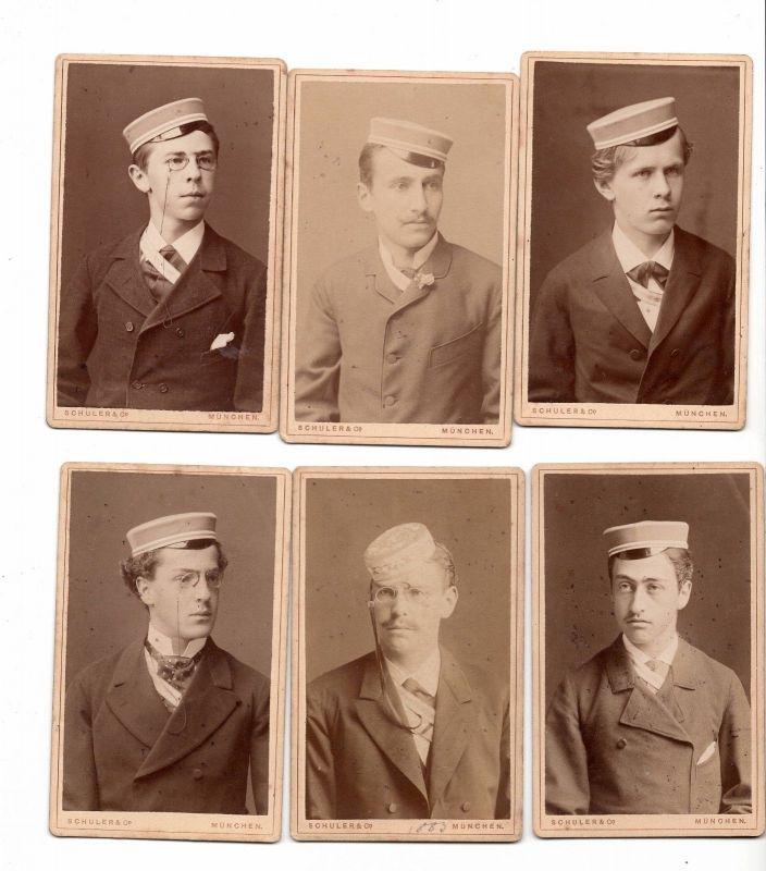 X 3 - Studentika Burschenschaft 1883 Fotos München Schuler & Co