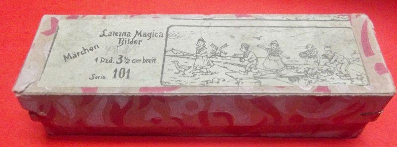 X - Laterna Magica Bilder Märchen Frühe Ausführung 1 Dzd. 3 1/2 cm breit