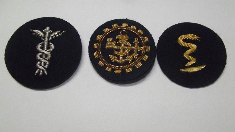Militär Uniform Ärmelabzeichen Hochwertige Bouillon Stickerei Marine ...