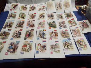 X- Lot von 36 AK Briefmarke La Poste Post Briefträger aus aller Welt Lithos