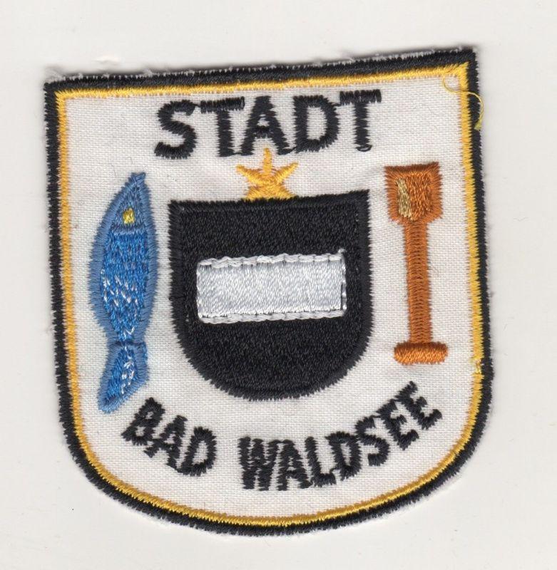 Aufnäher Patches Ärmelabzeichen Stadt Bad Waldsee Baden Württenberg Wappen