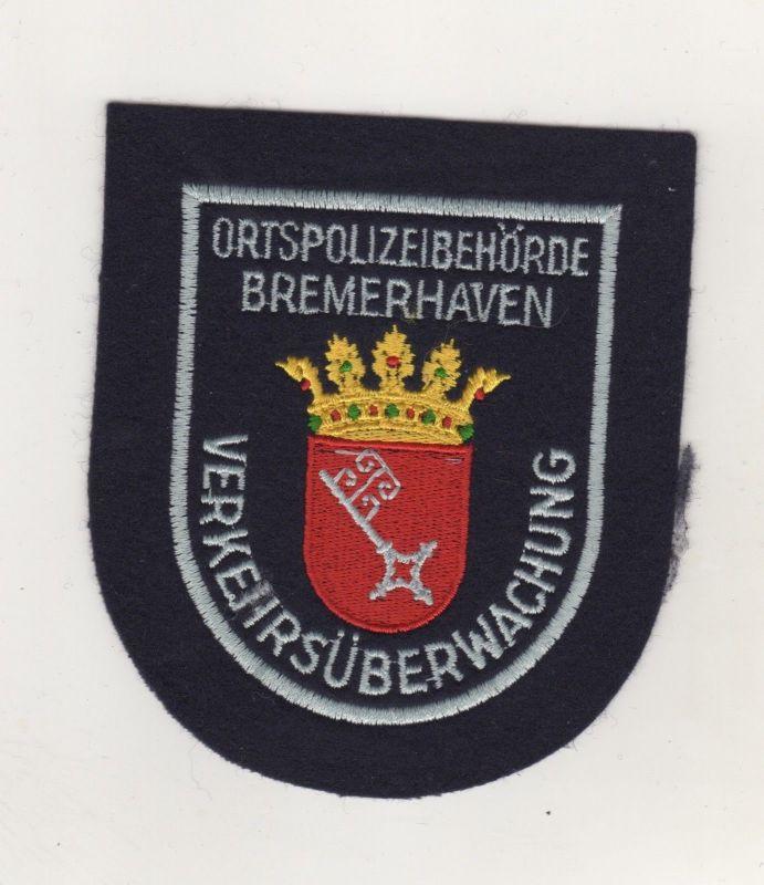 Polizei Aufnäher Patch Ortspolizeibehörde Bremerhaven Verkehrsüberwachung  /1