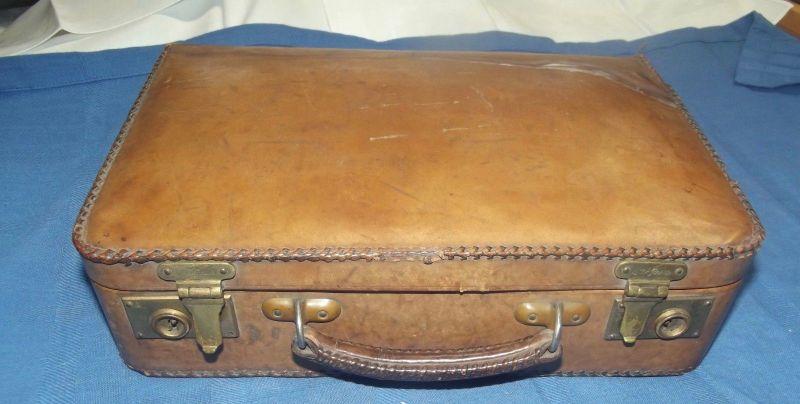 Kinder Lederkoffer Vintage 30er Jahre Koffer