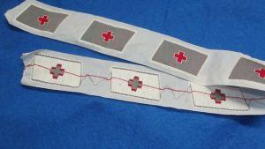 Original Aufnäher Patch Rotes Kreuz Ungeschnitten 7 Stück