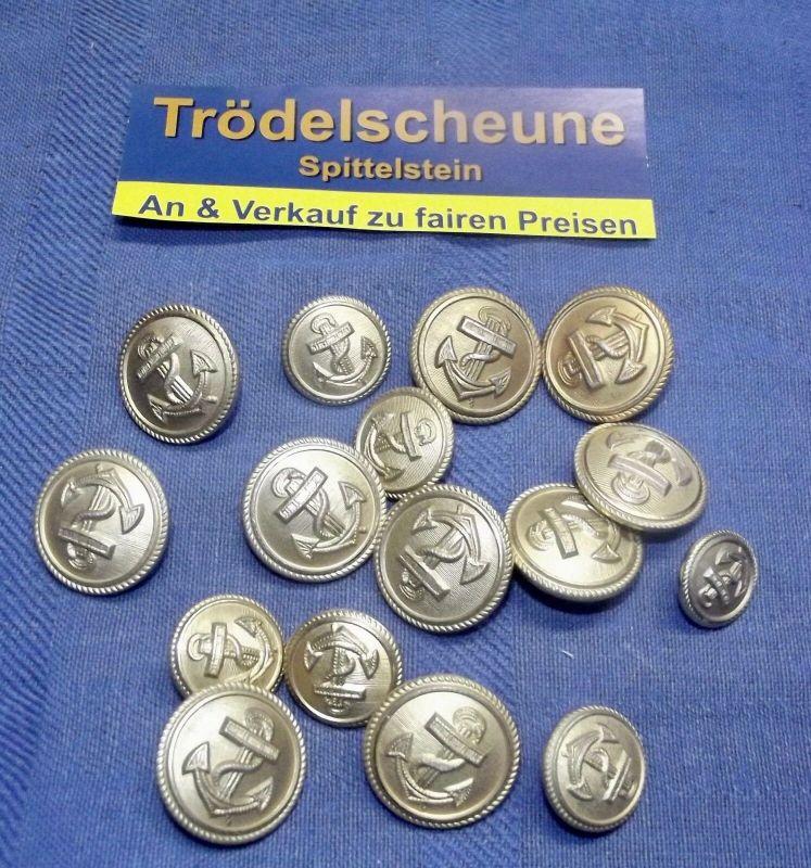 Konvolut von der Deutschen Kreigsmarine Knöpfe ab 1939