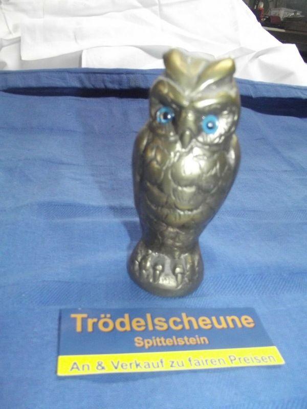 Messing Eule 12,5 cm Schwer 1365 Gramm