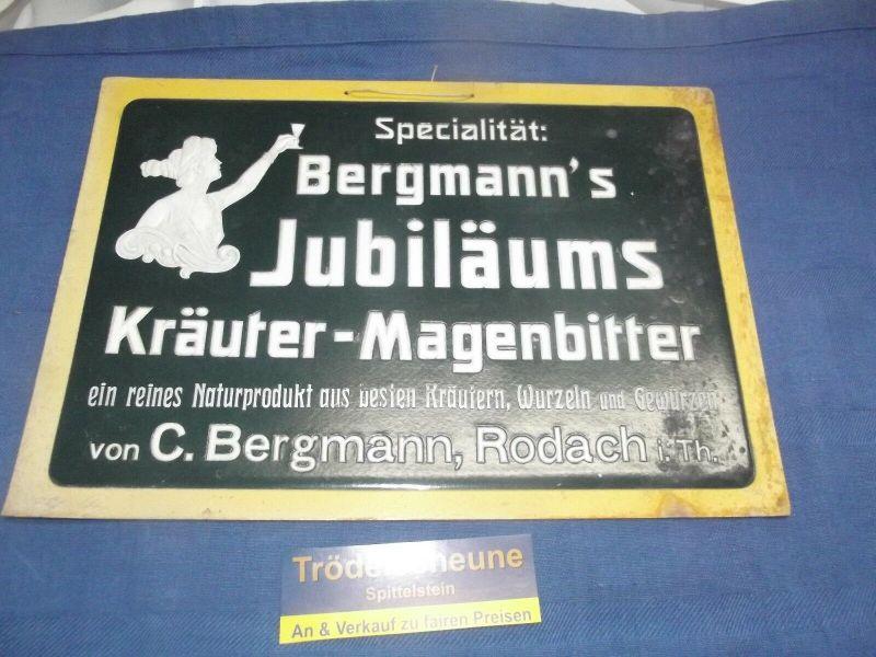 Prägedruck Reklame Bergmann´s Magenbitter Rodach bei Coburg ehemals Thüringen