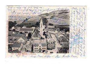 AK Oberpfalz Wörth an der Donau Marktinneres Lithographie Kreis Regensburg 1905