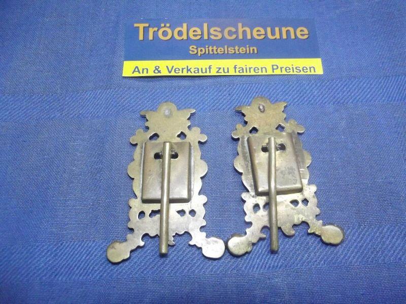 2 Antike Engel Miniatur Bilderrahmen Stand Rahmen Messing Antiquität 4
