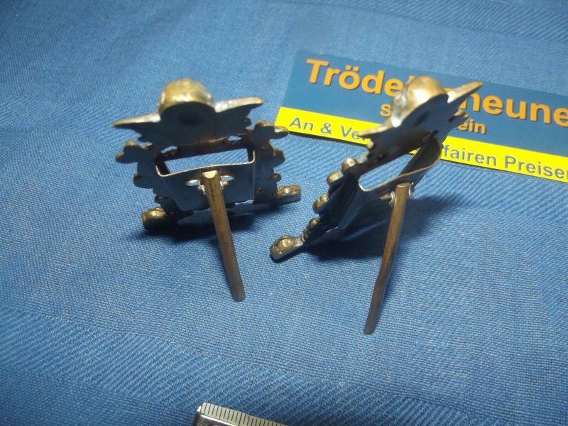 2 Antike Engel Miniatur Bilderrahmen Stand Rahmen Messing Antiquität 6