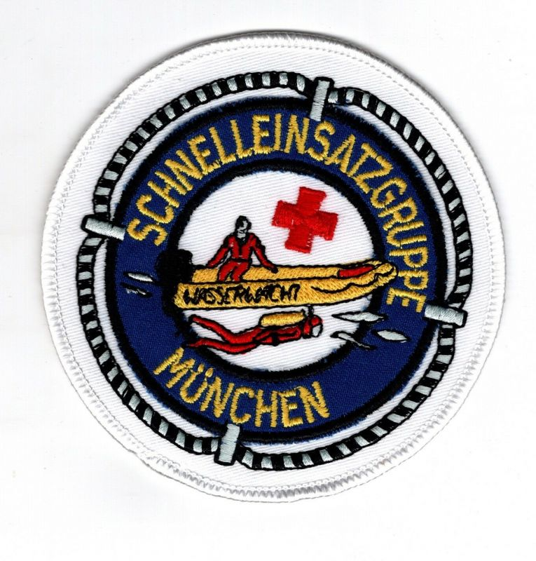 Aufnäher Patches Rotes Kreuz Wasserwacht Schnelleinsatztruppe München