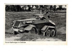 AK WK2 Panzer Spähwagen im Gelände 2. Weltkrieg