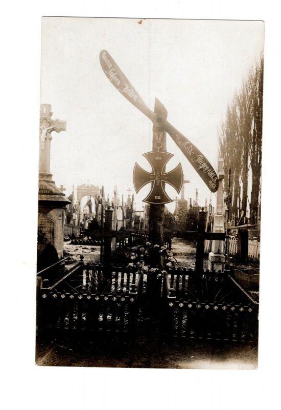 AK Soldaten Friedhof Unsere tapferen Helden im Felde Flieger Abt.3 Propeller