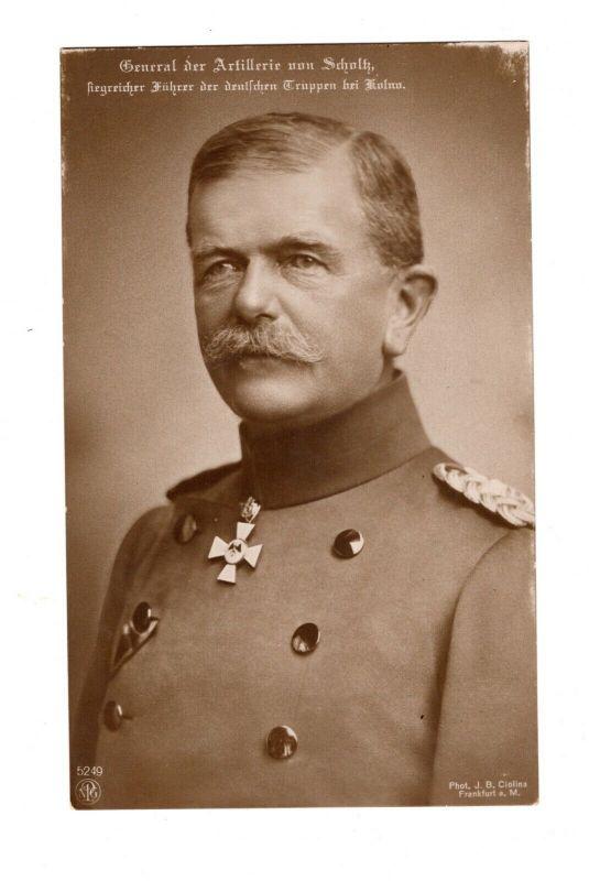 AK General der Artillerie von Schulz Siegreicher Führer der Truppen in Kolno