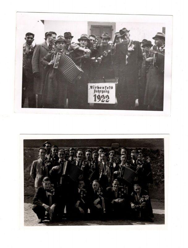 Original Foto Postkarte Musterung 2.Weltkrieg Birkenfeld Jahrgang 1922 + 1925