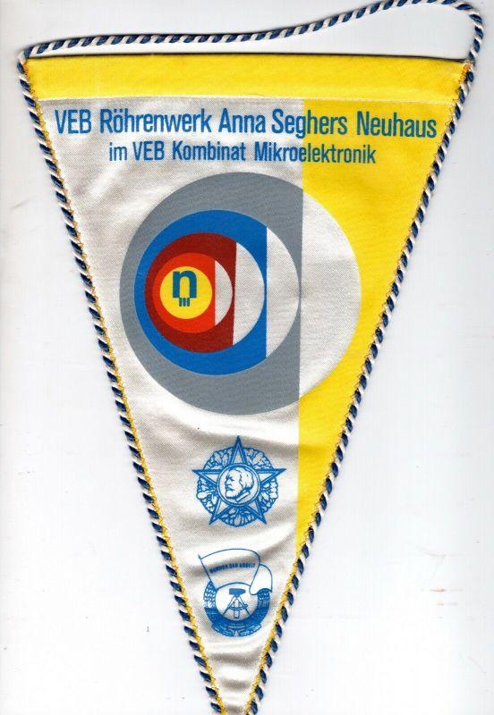 DDR Wimpel VEB Röhrenwerk anna Seghers Neuhaus Rennweg Kreis Sonneberg