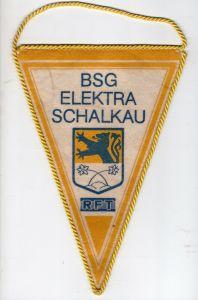 DDR Sport Wimpel BSG Elektra Schalkau RFT Kreis Sonneberg Thüringern