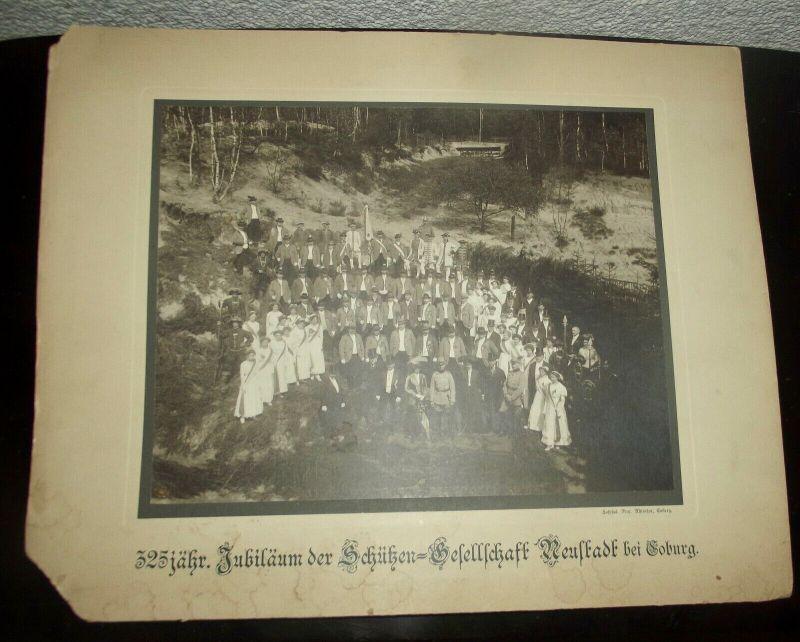Foto auf Pappe 325 jähriges Jubiläum Schützen Gesellschaft Neustadt bei Coburg