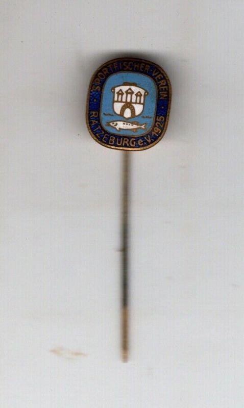 Alte Anstecknadel Angelverein Angelsport Fischerei Verein Ratzeburg e.V. 1925